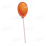 One Orange Balloon