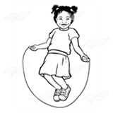 Girl Jumping Rope