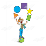 Clown Juggling Shapes