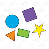 Abeka   Clip Art   Cluster of Shapes—triangle, circle ...