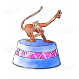 Monkey on Circus Stand