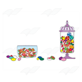 Candy Jars and Candy