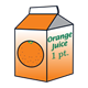 Orange Juice Carton 1 1 pint