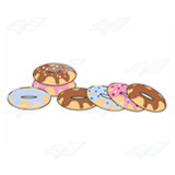 Seven Frosted Doughnuts