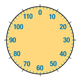 Dial Thermometer yellow, without needle
