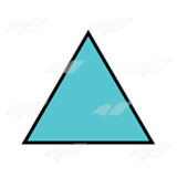 Teal Triangle 1