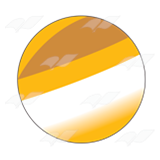 Orange Striped Planet