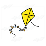 Yellow Kite on a String