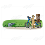 Bunny with a Bicycle