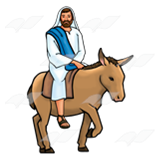 Jesus Riding Donkey