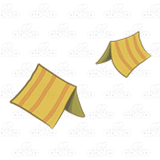Yellow Striped Tents