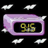abeka clip art purple alarm clock showing 9 15 rh abeka com Blank Clock Clip Art Digital Clock Numbers