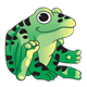 Green Frog with black spots