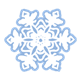 White Snowflake with six pointed sides