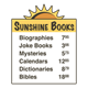 Sunshine Sign with prices of books