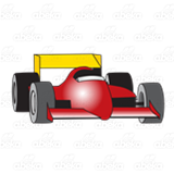 Red and Yellow Racecar