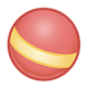Red Ball  with yellow stripe