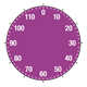 Dial Thermometer purple, without needle