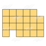 Yellow Block Shape 1