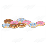 Nine Frosted Doughnuts