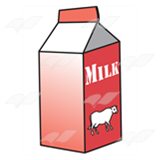 Red Milk Carton