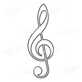 Purple Treble Clef
