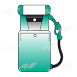 Teal Gas Pump