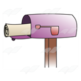 Open Purple Mailbox