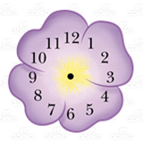 Purple Flower Clock