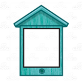 Teal Birdhouse