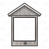 Gray Birdhouse