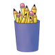 Purple Pencil Cup holding pencils