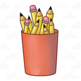Red Pencil Cup