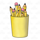 Yellow Pencil Cup