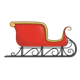 Red Sleigh with gold trim