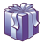 Dark Purple Present Color PNG