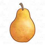 Upright Yellow Pear