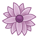 Purple Flower with multiple petals and purple center