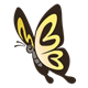 Yellow Butterfly with black outlined wings