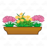 Brown Flower Box