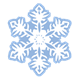 Blue Snowflake with six pointed sides