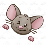 Happy Brown Mouse