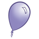 Purple Balloon with light reflection