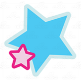 Pink and Blue Stars