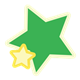 Green and Yellow Stars two