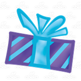 Blue and Purple Gift
