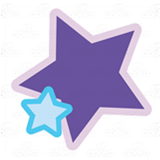 Blue and Purple Stars