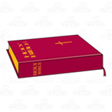 Closed Red Bible