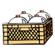 Tan Crate with milk jugs in it