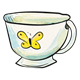 Teacup with yellow butterfly